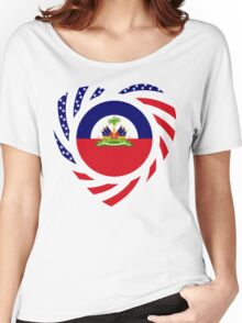 Haitian American Multinational Patriot Flag Series 2.0 Women's Relaxed Fit T-Shirt