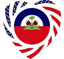 Haitian American Multinational Patriot Flag Series 2.0 Photographic Print