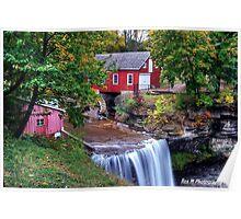 DeCew Falls in Autumn Colours Poster