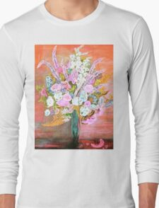 Spring Bouquet Water Color Long Sleeve T-Shirt