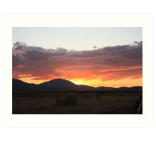 Sunsetting Bowen Art Print