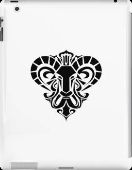 Zodiac Sign Aries Black by elangkarosingo