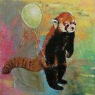 Red Panda Balloon by Michael Creese