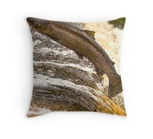 Fighting Upstream Throw Pillow