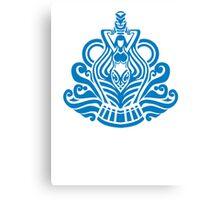 Zodiac Sign Aquarius Blue Canvas Print