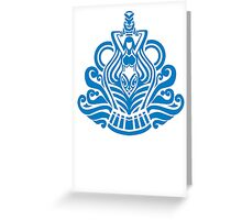 Zodiac Sign Aquarius Blue Greeting Card