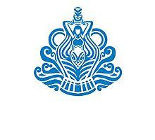 Zodiac Sign Aquarius Blue Photographic Print