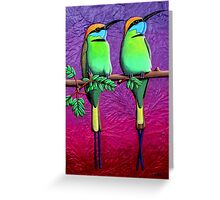 Green Bee-Eaters Greeting Card
