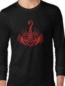 Zodiac Sign Scorpio Red Long Sleeve T-Shirt