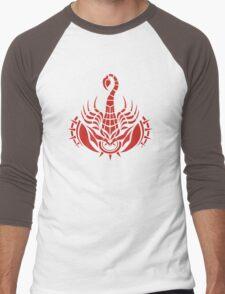 Zodiac Sign Scorpio Red Men's Baseball ¾ T-Shirt