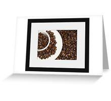 Coffee circles Greeting Card