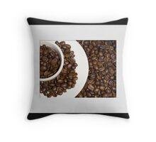 Coffee circles Throw Pillow
