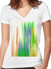 The Beautiful Veil Oil Painting Abstract Women's Fitted V-Neck T-Shirt