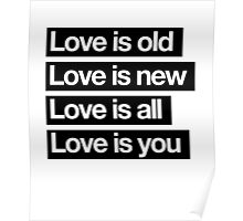 Love Is All. - The Beatles. Poster