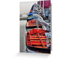 Queen Mary Life Boats Greeting Card