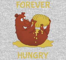 Forever Hungry | Bear eating honey One Piece - Short Sleeve