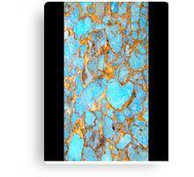Turquoise and Gold iPhone / Samsung Galaxy Case Canvas Print