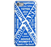 Scottish slang and phrases iPhone Case/Skin
