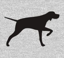 Pointer Dog Silhouette by Jenn Inashvili