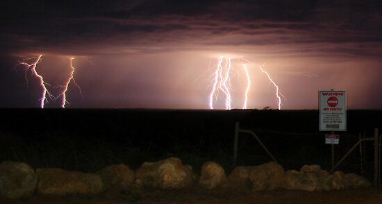 Jurien Bay Lightning by Daniel Fitzgerald