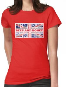 Union Jack, Cockney Rhyming Slang Womens Fitted T-Shirt