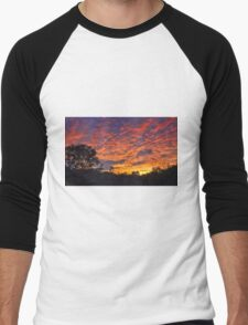 """Burning Sky"" Men's Baseball ¾ T-Shirt"