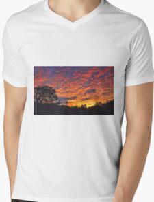 """Burning Sky"" Mens V-Neck T-Shirt"