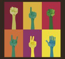 pop art hands by Anastasiia Kucherenko