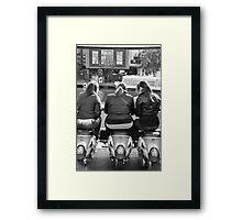 bums! Framed Print