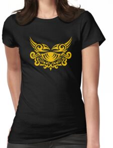 Zodiac Sign Cancer Gold Womens Fitted T-Shirt