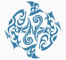 Zodiac Sign Pisces Blue by elangkarosingo