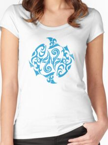 Zodiac Sign Pisces Blue Women's Fitted Scoop T-Shirt