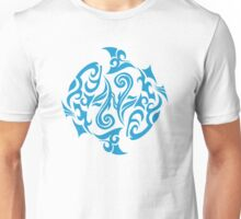 Zodiac Sign Pisces Blue Unisex T-Shirt