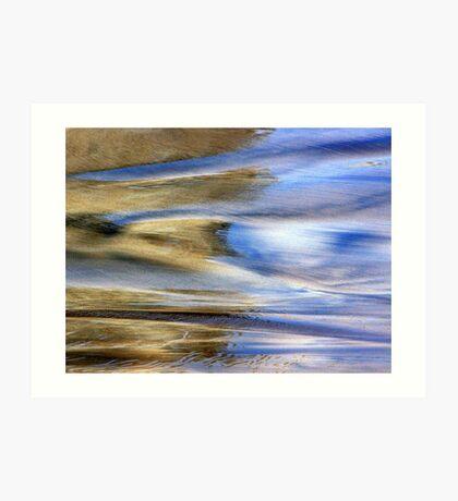 Seashore Photo Acuarela Art Print