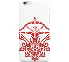 Zodiac Sign Sagitarius Red iPhone Case/Skin