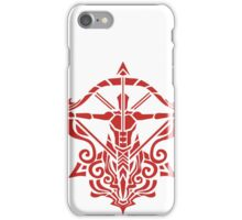 Zodiac Sign Sagitarius Red iPhone Case/Skin