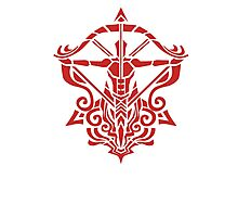 Zodiac Sign Sagitarius Red Photographic Print