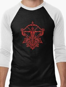 Zodiac Sign Sagitarius Red Men's Baseball ¾ T-Shirt