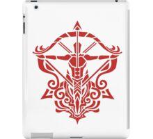 Zodiac Sign Sagitarius Red iPad Case/Skin