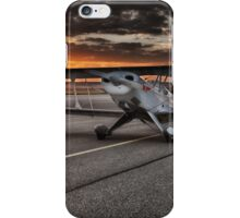 Propeller Airplane at Sunset iPhone Case/Skin