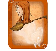 Ginny Weasley Playing Card Photographic Print
