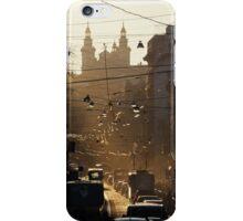 Evening over Lviv's street iPhone Case/Skin
