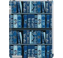 Blue Book Shelves Vintage Books Pattern iPad Case/Skin
