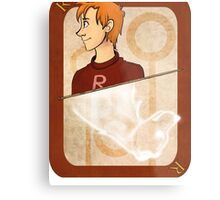 Ron Weasley Playing Card Metal Print
