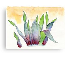garbage tulips Canvas Print