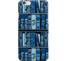 Blue Book Shelves Vintage Books Pattern iPhone Case/Skin
