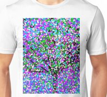Tree Abstract Purple,Pink,Blue,White Oil Painting Unisex T-Shirt