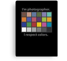 Colour charted t-shirt Canvas Print