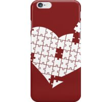 Heart Puzzle White iPhone Case/Skin