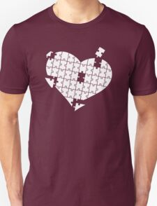 Heart Puzzle White T-Shirt